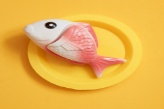 fish on plate image
